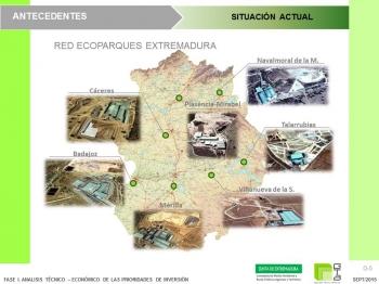 Anteproyecto de actuaciones para la mejora de las instalaciones de tratamiento de residuos de la Junta de Extremadura